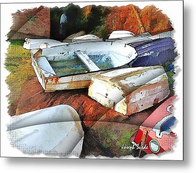 Metal Print featuring the photograph Wat-0012 Tender Boats by Digital Oil