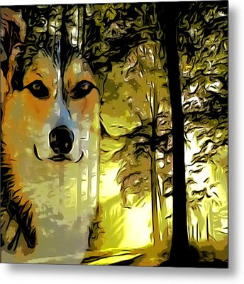 Watcher Of The Woods Metal Print