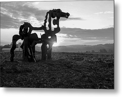Watchful The Iron Horse  Metal Print