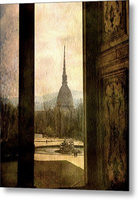 Watching Antonelliana Tower From The Window Metal Print