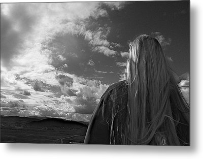 Watching As The World Goes By Metal Print
