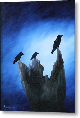 Watching For Company Metal Print by Rebecca  Fitchett
