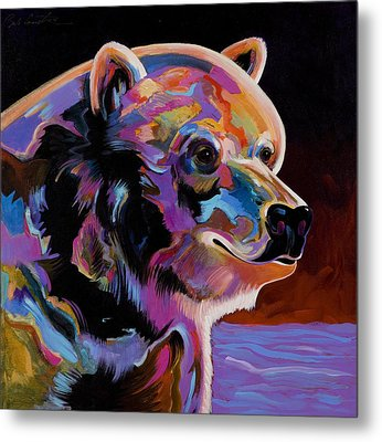 Metal Print featuring the painting Watching For The Catch by Bob Coonts