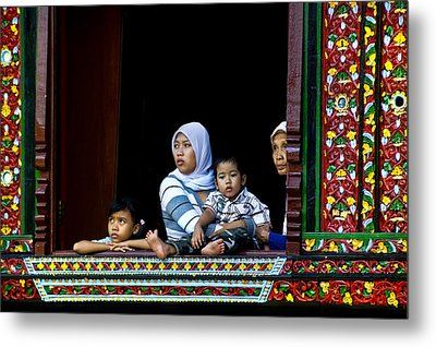 Watching From A Window Metal Print by Charuhas Images