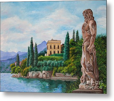 Watching Over Lake Como Metal Print by Charlotte Blanchard
