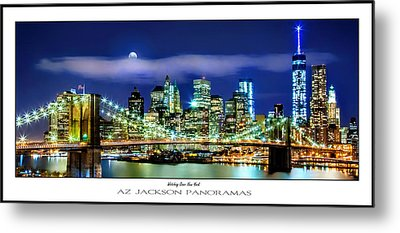 Watching Over New York Poster Print Metal Print by Az Jackson