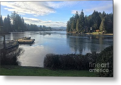 Metal Print featuring the photograph Watching The Ice Melt by Victor K