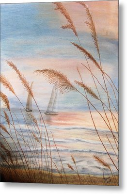 Watching The Sails Metal Print