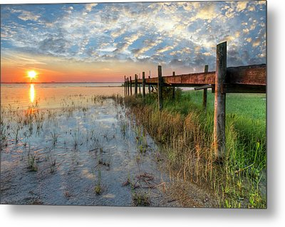 Watching The Sun Rise Metal Print by Debra and Dave Vanderlaan