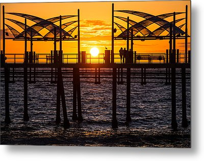 Watching The Sunset Metal Print by Ed Clark
