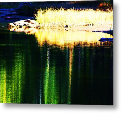 Water Abstract 2 Metal Print by Russell  Barton