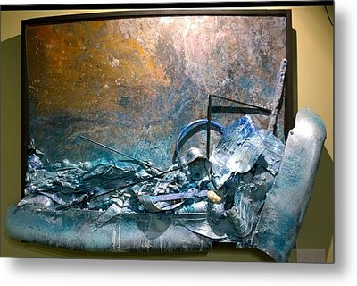 Metal Print featuring the mixed media Water Abstract #31017 by Robert Anderson
