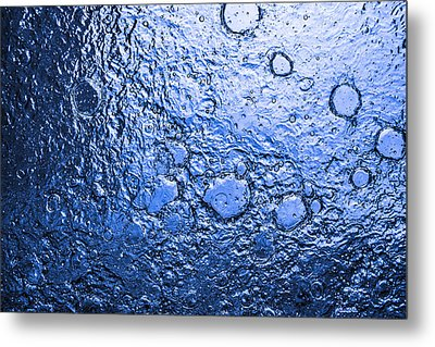 Water Abstraction - Blue Rain Metal Print by Alex Potemkin