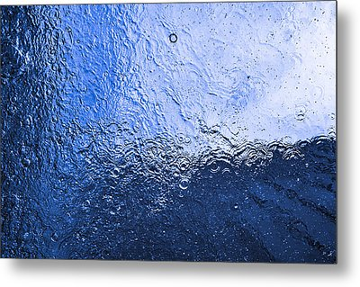 Water Abstraction - Blue Reflection Metal Print by Alex Potemkin