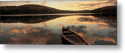 Water And Boat, Maine, New Hampshire Metal Print