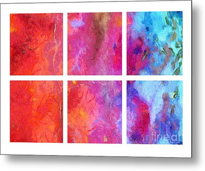 Water And Fire Abstract Metal Print