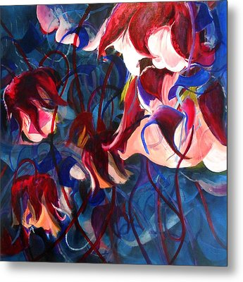 Metal Print featuring the painting Water Avens II by Georg Douglas
