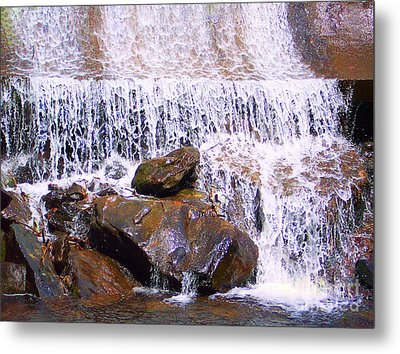 Metal Print featuring the photograph Water Cascade by Roberta Byram