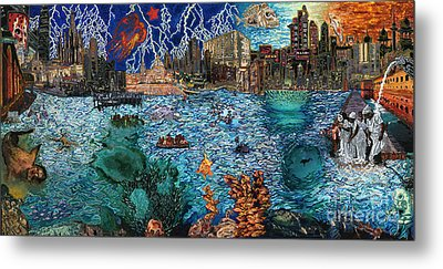 Water City Metal Print