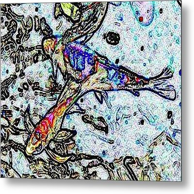 Metal Print featuring the photograph Water Color Koi by Holly Martinson