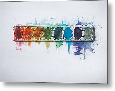 Water Colors Metal Print by Scott Norris
