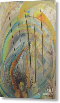Metal Print featuring the painting Water by Daun Soden-Greene