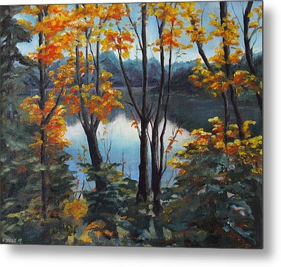 Metal Print featuring the painting Water by Diane Daigle