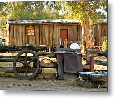 Metal Print featuring the photograph Water Draw At Hotel Nipton California Detail by Floyd Snyder
