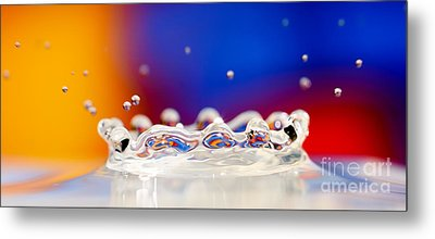 Metal Print featuring the photograph Water Drop by Colin Rayner