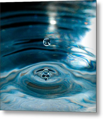 Water Drop In Time Metal Print by Sonja Quintero