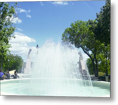 Water Fountain Ponce, Puerto Rico Metal Print