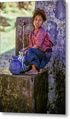 Water Girl Metal Print by Tina Manley