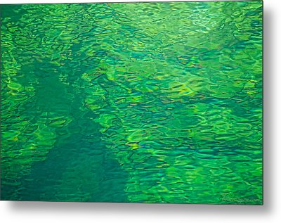 Water Green Metal Print by Britt Runyon