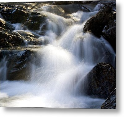Metal Print featuring the photograph Water In Motion by Alan Raasch