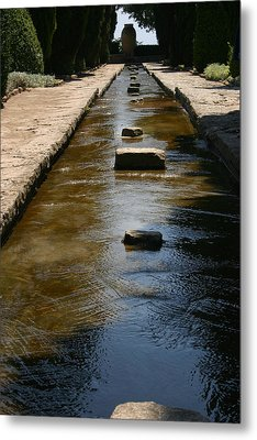 Water In The Balchik Garden Metal Print by Emanuel Tanjala