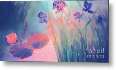 Water Iris Metal Print by Holly Martinson