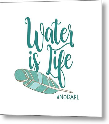 Water Is Life Nodapl Metal Print by Heidi Hermes