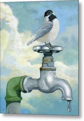 Water Is Life - Realistic Painting Metal Print by Linda Apple