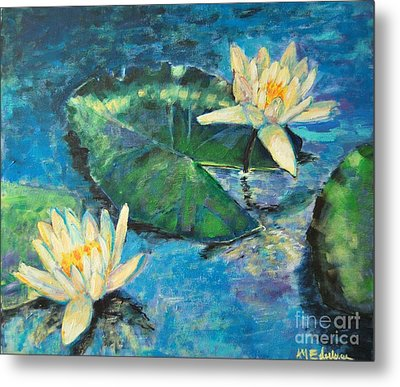 Metal Print featuring the painting Water Lilies by Ana Maria Edulescu
