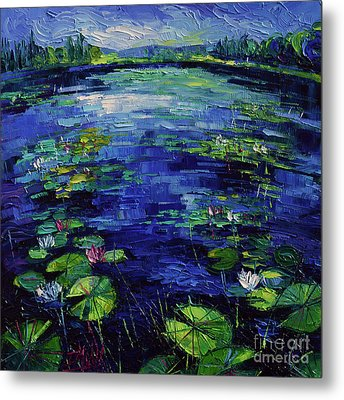 Water Lilies Magic Metal Print by Mona Edulesco