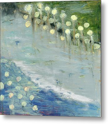 Metal Print featuring the painting Water Lilies by Michal Mitak Mahgerefteh