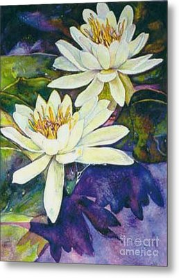 Water Lilies Metal Print by Norma Boeckler