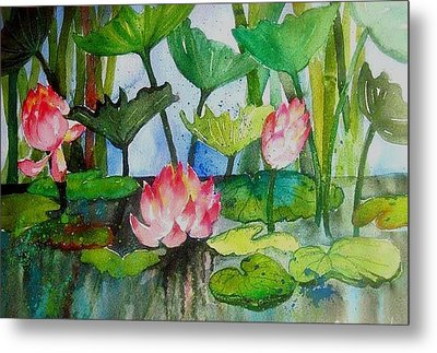 Water Lillies Two Metal Print