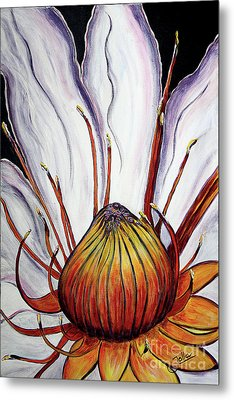 Metal Print featuring the painting Water Lilly  by Jolanta Anna Karolska