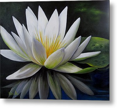 Water Lilly  Metal Print by Katia Aho