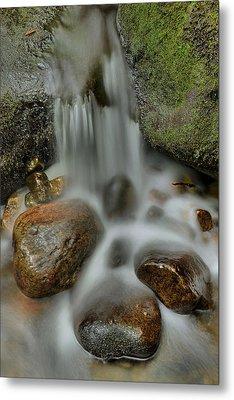 Water Movement Detail Metal Print by Stephen  Vecchiotti