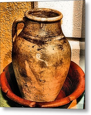 Water Pitcher Metal Print by Jimmy Ostgard