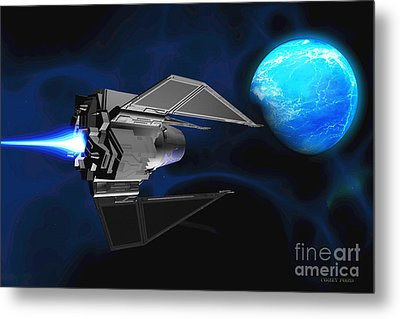 Water Planet Metal Print by Corey Ford