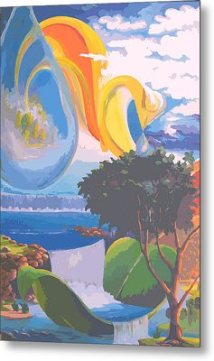 Water Planet Series - Vetor Version Metal Print by Leomariano artist BRASIL