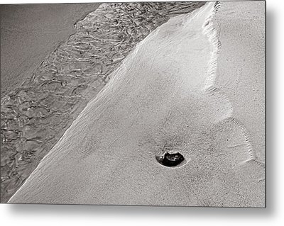 Water-sand-stone-st Lucia Metal Print by Chester Williams